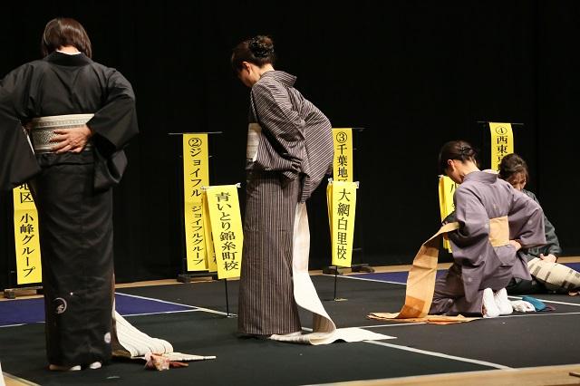 小紋・紬に名古屋帯の自装(角出し)